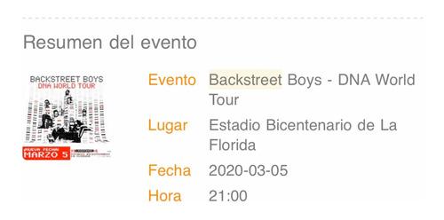 oportunidad 6 entradas backstreet boys dna tour