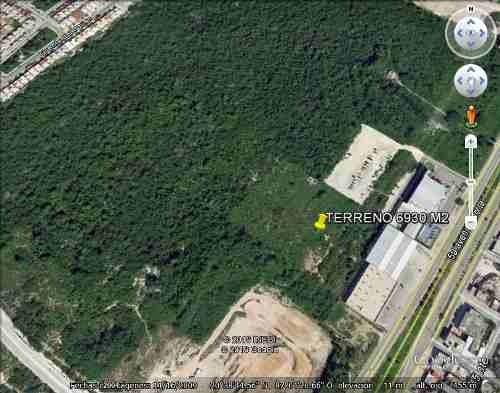 oportunidad! 6,930 m2 terreno a 100 metros de la carretera federal playa del carmen p1643