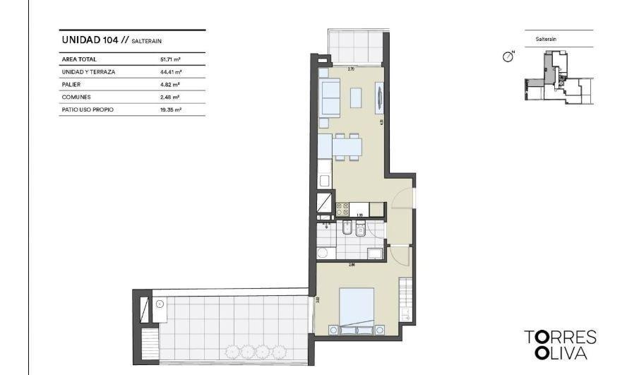 oportunidad apartamento 1 dormitorio cordón