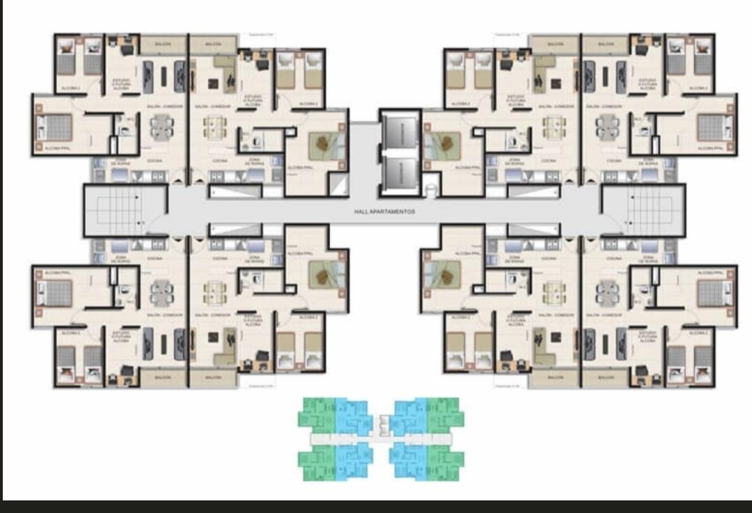oportunidad! apartamento de 2 habitaciones