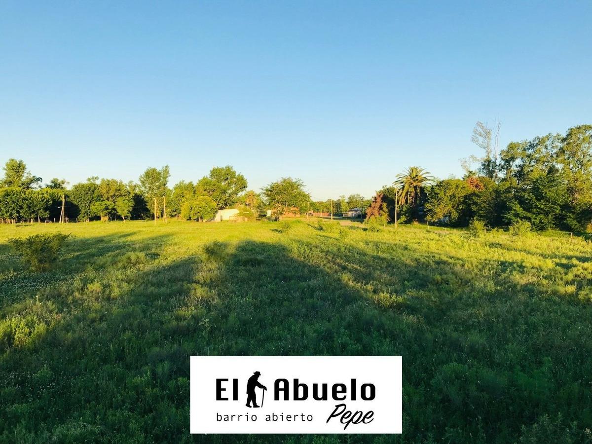 oportunidad. barrio abierto el abuelo pepe, luis palacios. terreno de 400 m2. entrega inmediata.