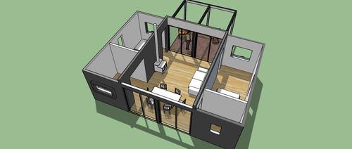 oportunidad casa prefabricada modular!! u$s 699 el mt.2  !!