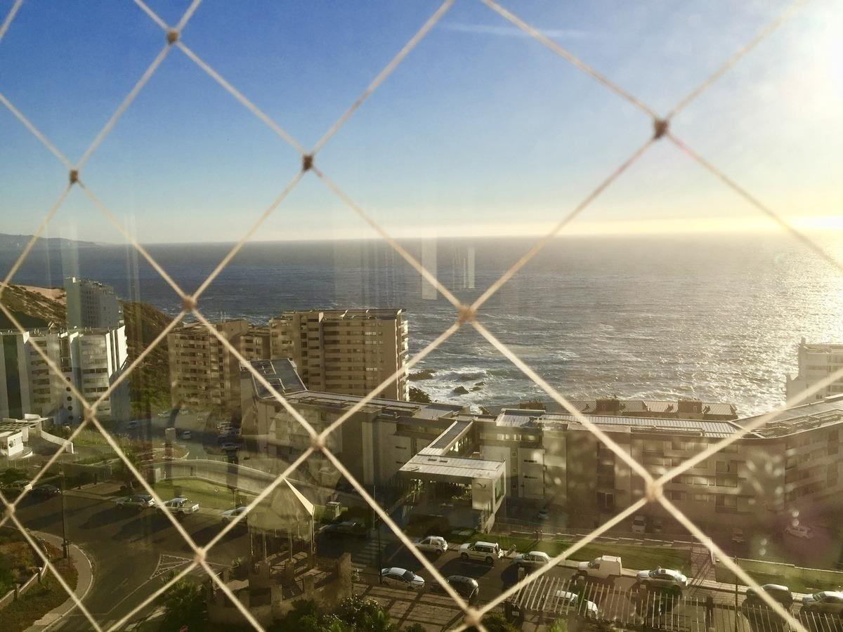 ¡oportunidad! departamento con vista asegurada al mar, costa de montemar.