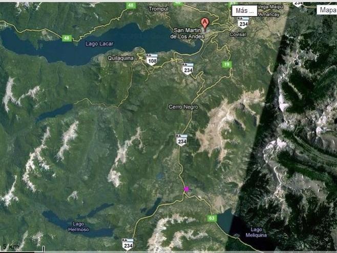 oportunidad! lote de 1230mts a 400mts de la costa del lago meliquina,