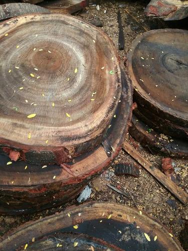 oportunidad  mesa parota circular con base de herreria