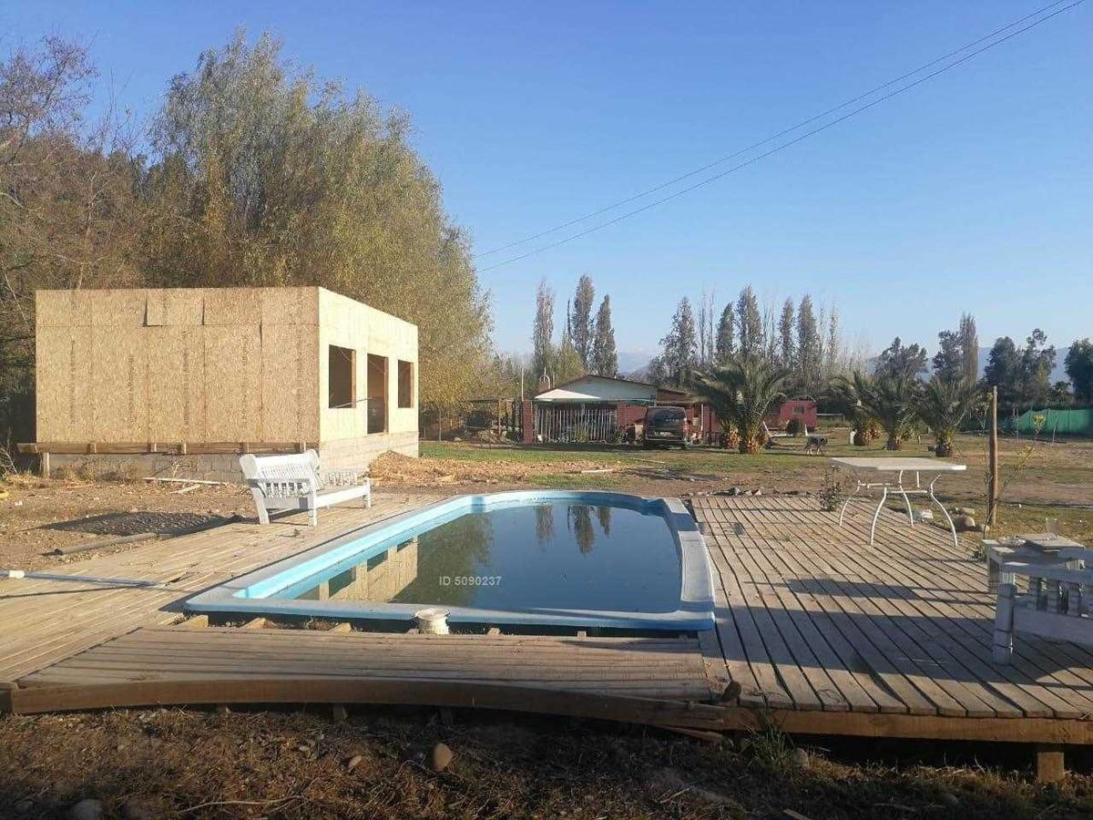 oportunidad..!! parcela con casa y piscina.. sector carampangue