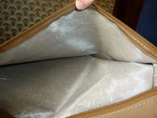 oportunidad: portafolio tela avion a estrenar, impermeable