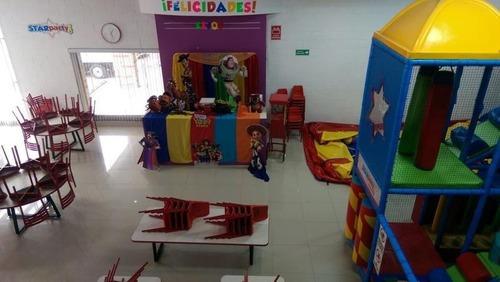 oportunidad salón de fiestas infantiles completamente equipado al nort