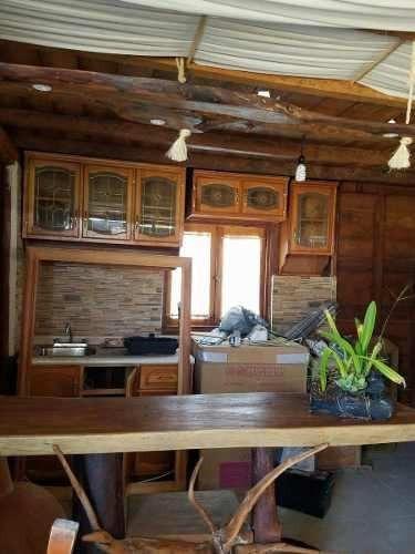 oportunidad venta terreno con dos casas tipo cabañas holbox