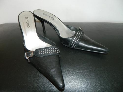 oportunidad !!zapatos paruolo usados cuero con strass $ 900