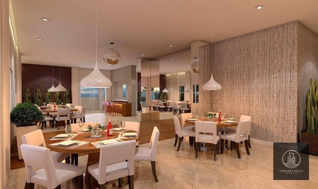 oportunidade apartamento com 3 dormitórios à venda, 95 m² por r$ 465.500 - condominio residencial montpellier - sorocaba/sp valor promocional ligue já - ap0431