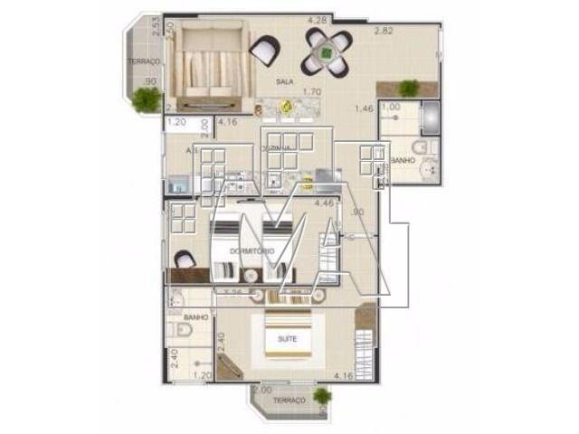 oportunidade! apartamento de 2 dormitórios, sendo uma suíte, localizado no canto do forte!