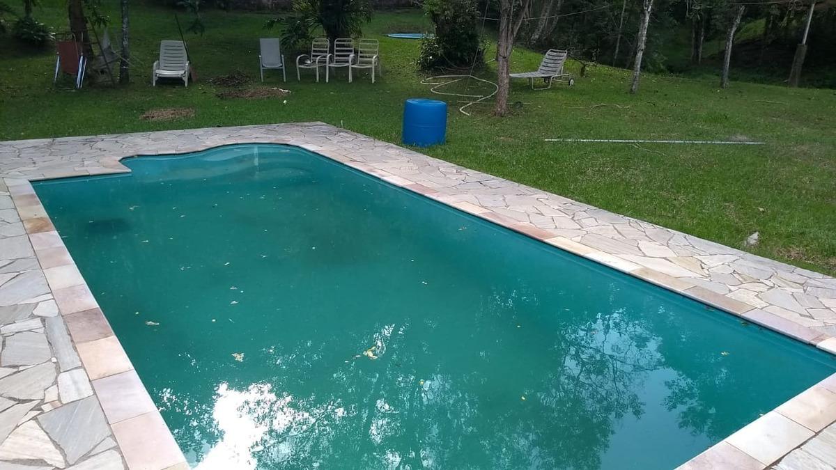 oportunidade chácara com piscina e lago