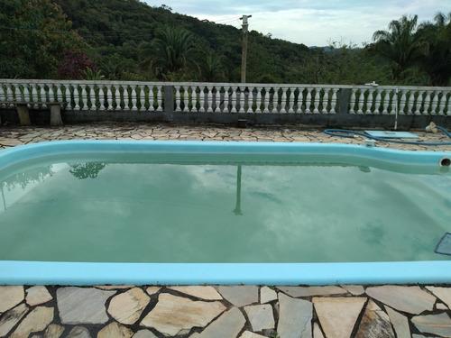 oportunidade chácara em juquitiba com piscina e lago