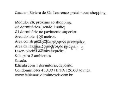 oportunidade em riviera - casa módulo 26