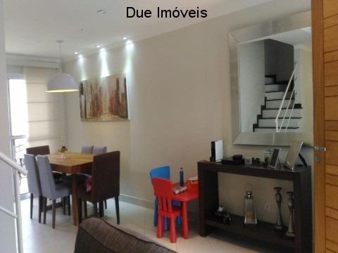 oportunidade! lindo sobrado no condomínio belle ville itaycy, com 120m² de construção, num residencial de 26 casas, tranquilo, com segurança 24 horas. - ca01440 - 33753816