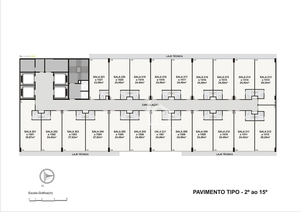 oportunidade: sala comercial com 30% de desconto no centro empresarial shopping moxuara - sa0003