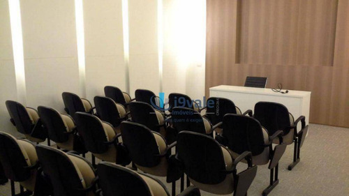 oportunidade sala à venda, decorada  34 m² por r$ 240.000 - jardim aquarius - são josé dos campos/sp - sa0190