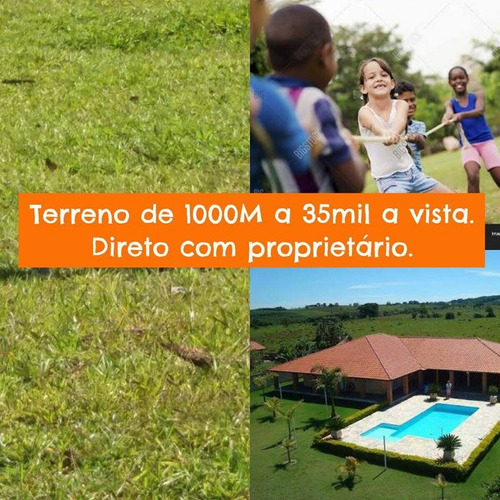 oportunidade unica terreno 500m²  35 mil a vista*cristopher*