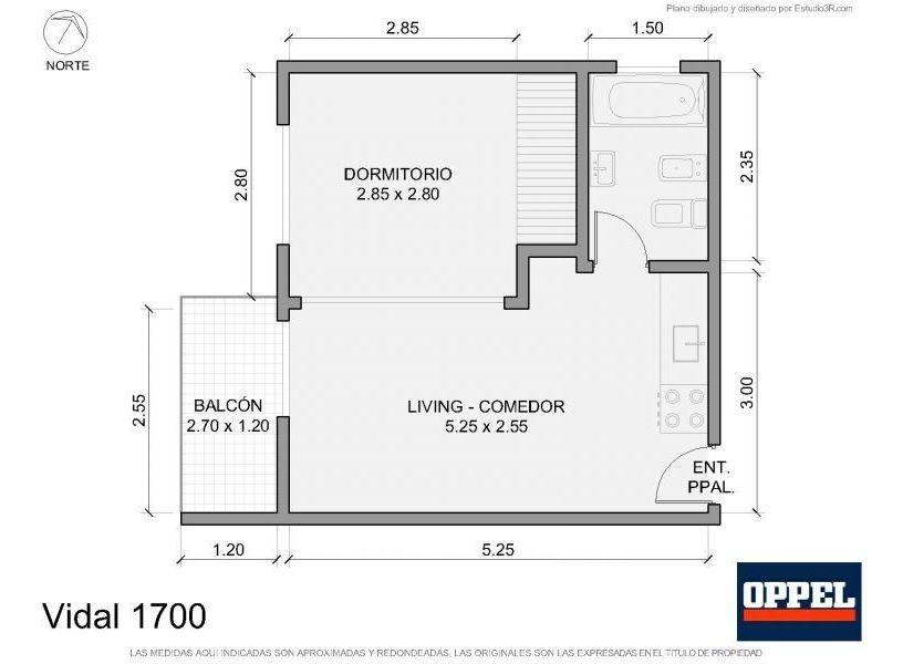oppel | departamento en alquiler | cod: 30863