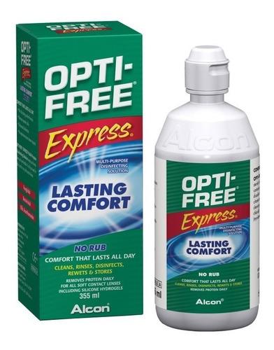 opti free express 355 ml combo x 4 solución lente contacto