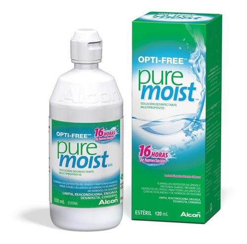 opti free pure moist 300ml combo x4 liquido lentes contacto