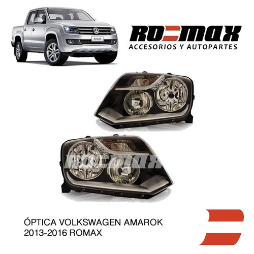 optica delantera amarok 2013 a 2016 valeo original ro-max