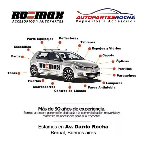 optica delantera vw gol power 2006 a 2011 original  zona sur