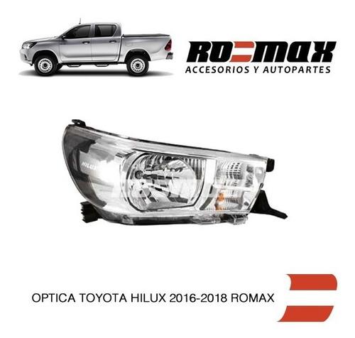 optica electrica delantera toyota hilux 2016 a 2017 romax