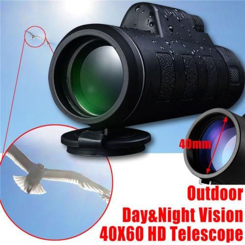 óptica niebla 40 x 60 visión día/noche viaje monocular teles
