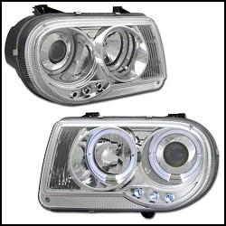 opticos con angel eyes chrysler 300c