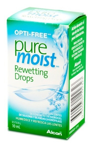 optifree pure moist rewetting drops 10ml solución humectante