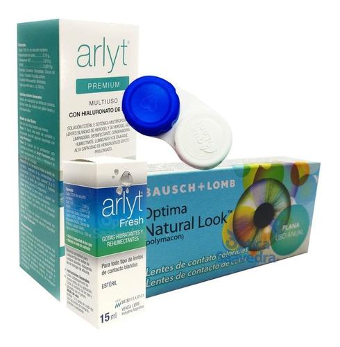 optima natural look lentes color anual liquido 120 lagrima