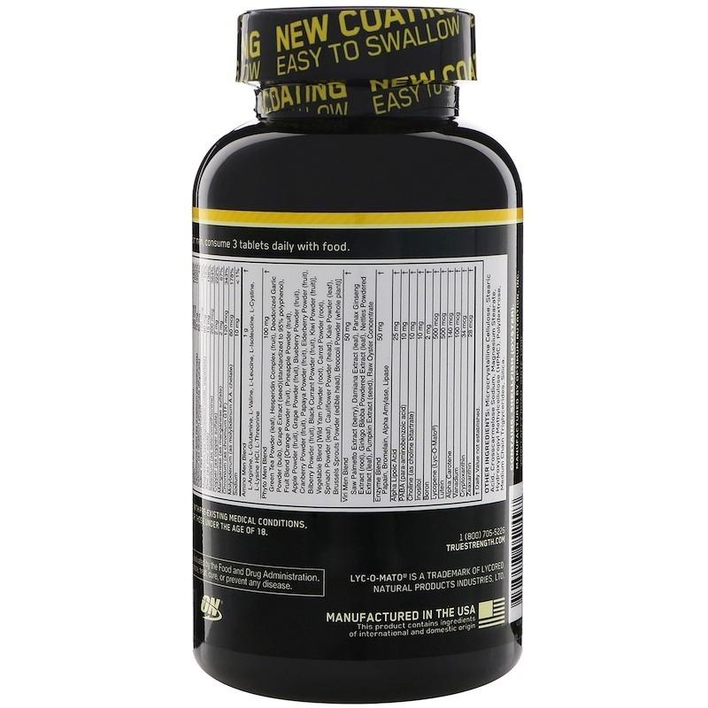 657c6ad44 Optimen Polivitaminico 240 Tablets Optimum Nutrition - R  215