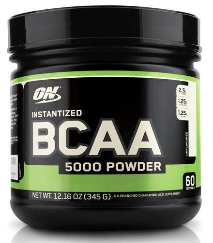 optimum nutrition bcaa 5000mg instantized polvo, sin sabor,