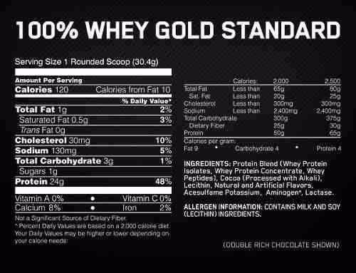 optimum nutrition: proteína gold standard 100% whey