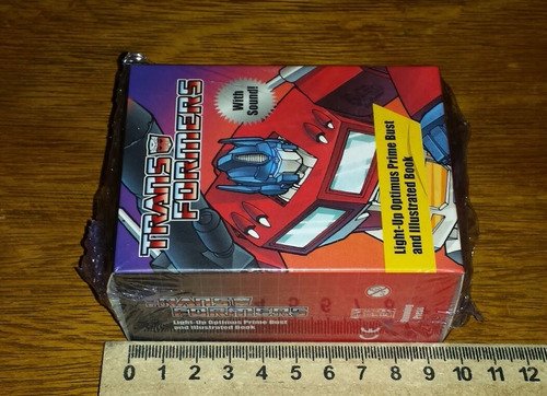 optimus prime busto transformers com som bust acende lightup