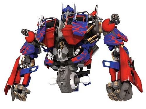 optimus prime transformers (para armar en papel)