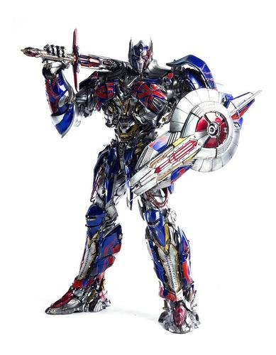 optimus prime transformers threea figura 50cm - robot negro