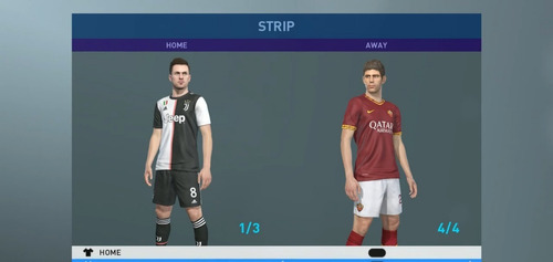 option file pes 19 temporada 2020 (camisetas y fichajes) ps4