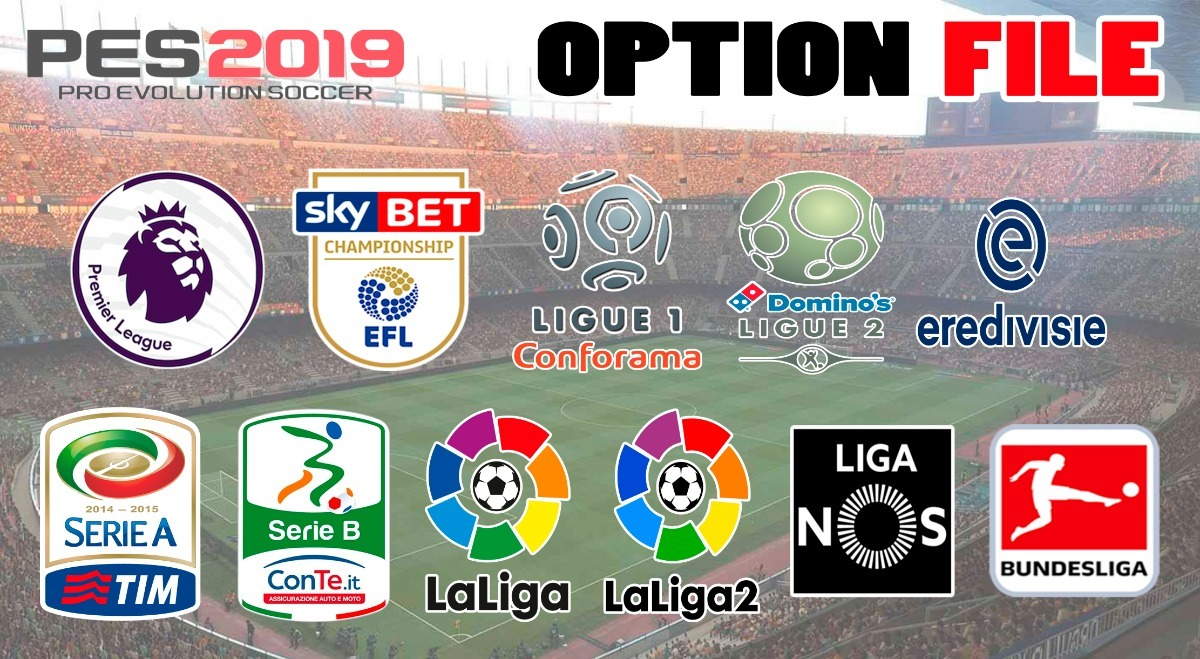 Option File Pes 2019 + Copa Movistar