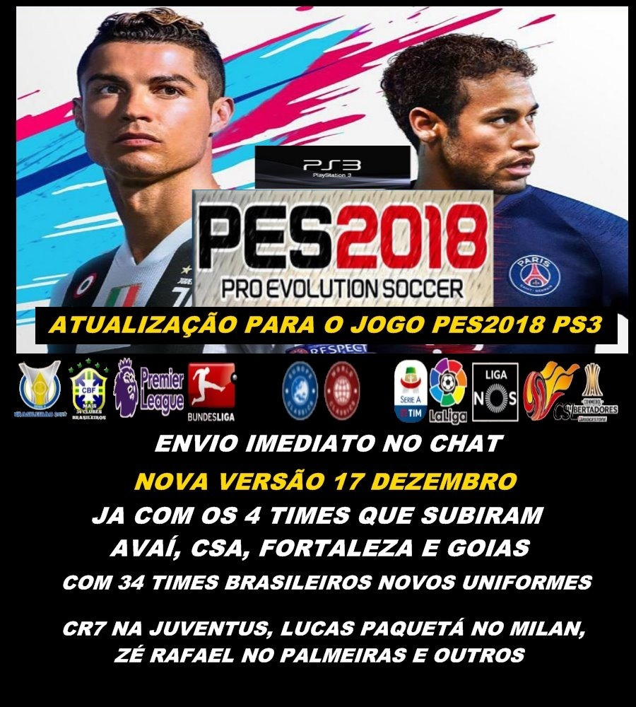 2bb7e24d78 Option File Pes2018 Ps3 No Pendrive - R  74