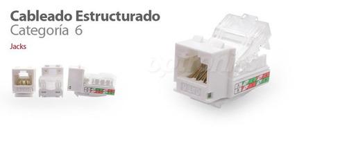 optronics. conector hembra (jack) rj45 keystone, categoría 6