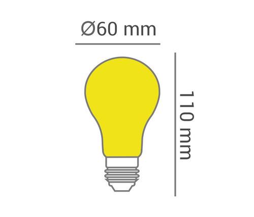 opus led - a60 repelente 9w amarela bivolt e27 - lp 30777