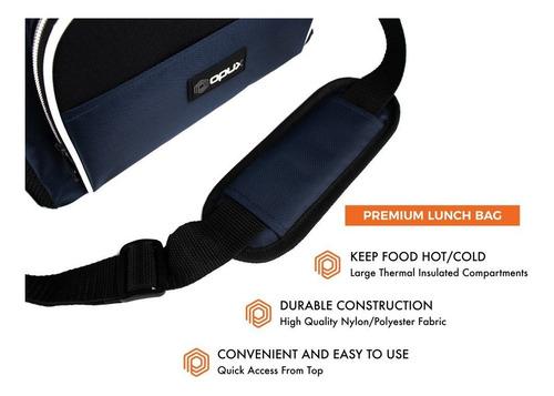 opux - bolsa térmica grande para el almuerzo para viajes,