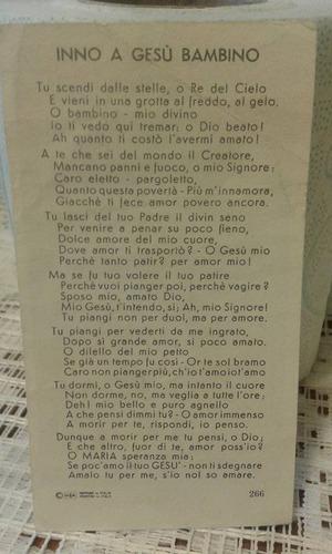 oración tarjeta antigua niño dios italia italiana