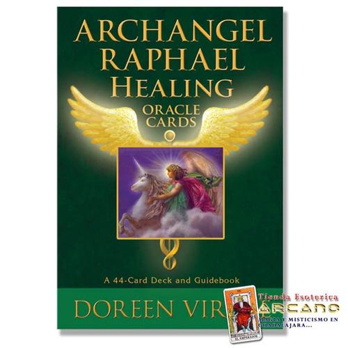 oráculo arcángel rafael - doreen virtue / 44 cartas y guía.
