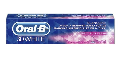 oral-b 3d white brilliant fresh blanq.70gr tub