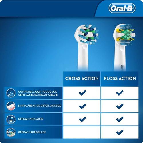 oral b repuesto cepillo electrico cross action x 2 unidades