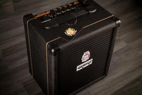 orange amplificador crush bass 25w black naranja rocker